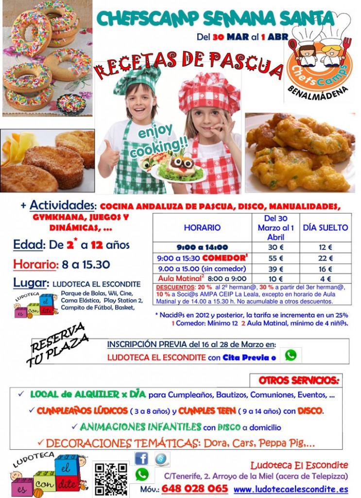 Campamento de Semana Santa organizado por la Ludoteca El Escondite. Días 30 de marzo al 1 de Abril.