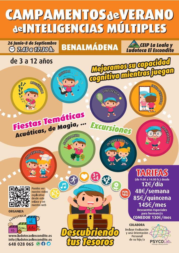 Carte Campamento Verano 2017 - Ludoteca El Escondite - Benalmádena - Arroyo de la Miel
