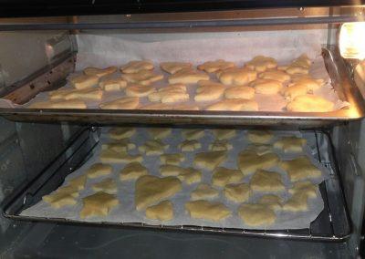 Galletas en el horno ya casi listas, mmmm!