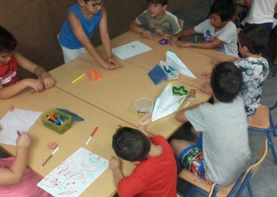 Pintando con rotuladores de colores