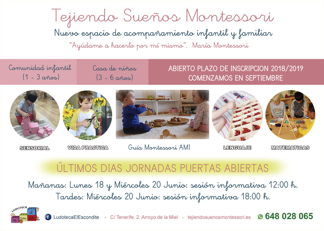 Nuevo proyecto dedicado a niños de 1 año hasta los 6. Centro Montessori en Benalmadena