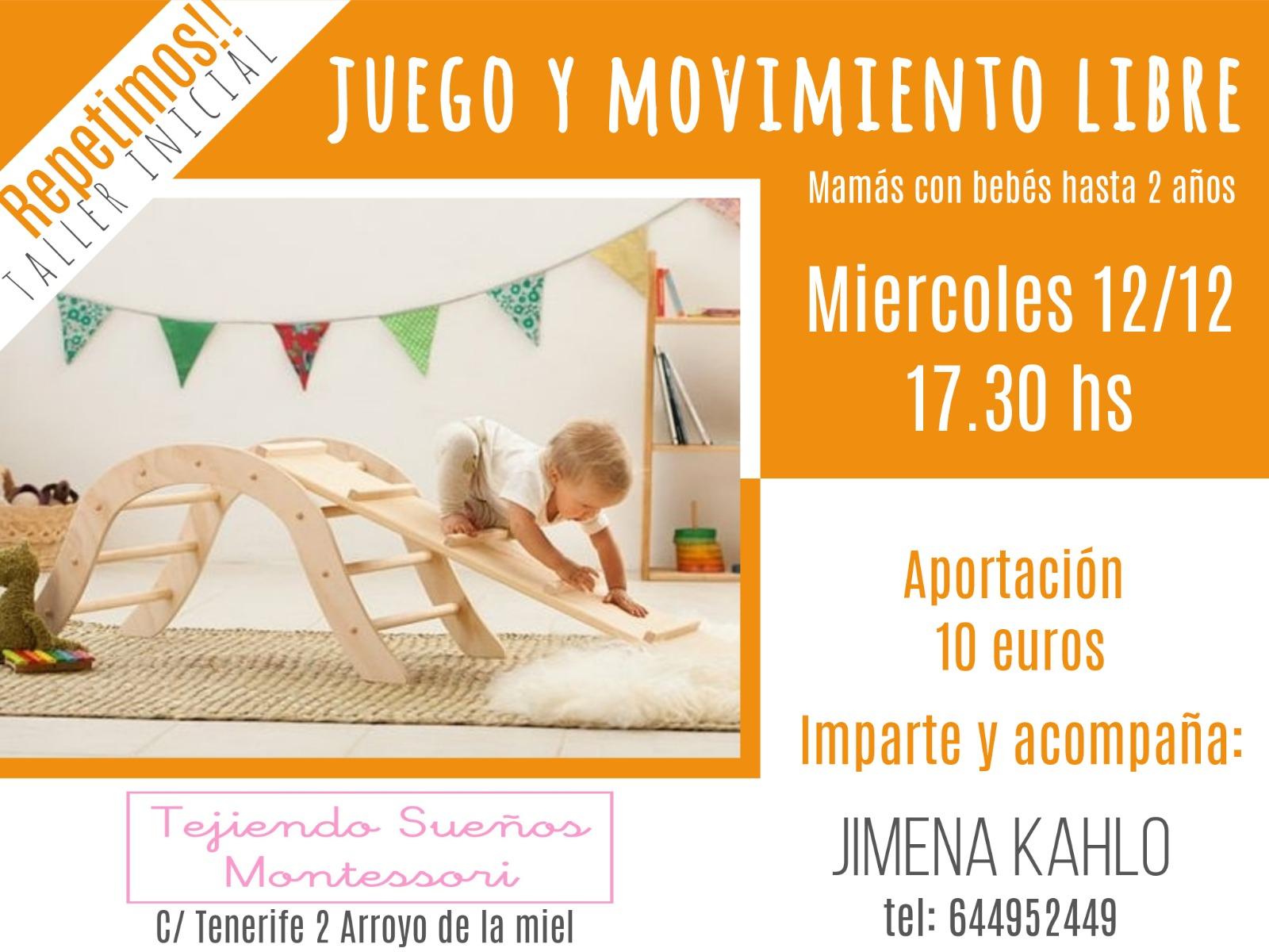 Segundo taller inicial Juego y Movimiento Libre - Mamás con bebés - Organiza La Ludoteca El Escondite